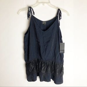 New Nordstrom Free Press Camisole Tie Strap Lace